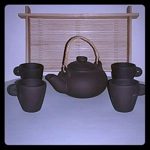 Other - Ceramic petite tea set with tray